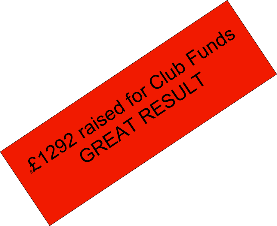 ££1292 raised for Club Funds